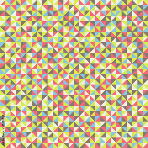 Obraz na płótnie Seamless pattern of geometric shapes Colorful mosaic backdrop Geometric vector background Colorful triangle pattern