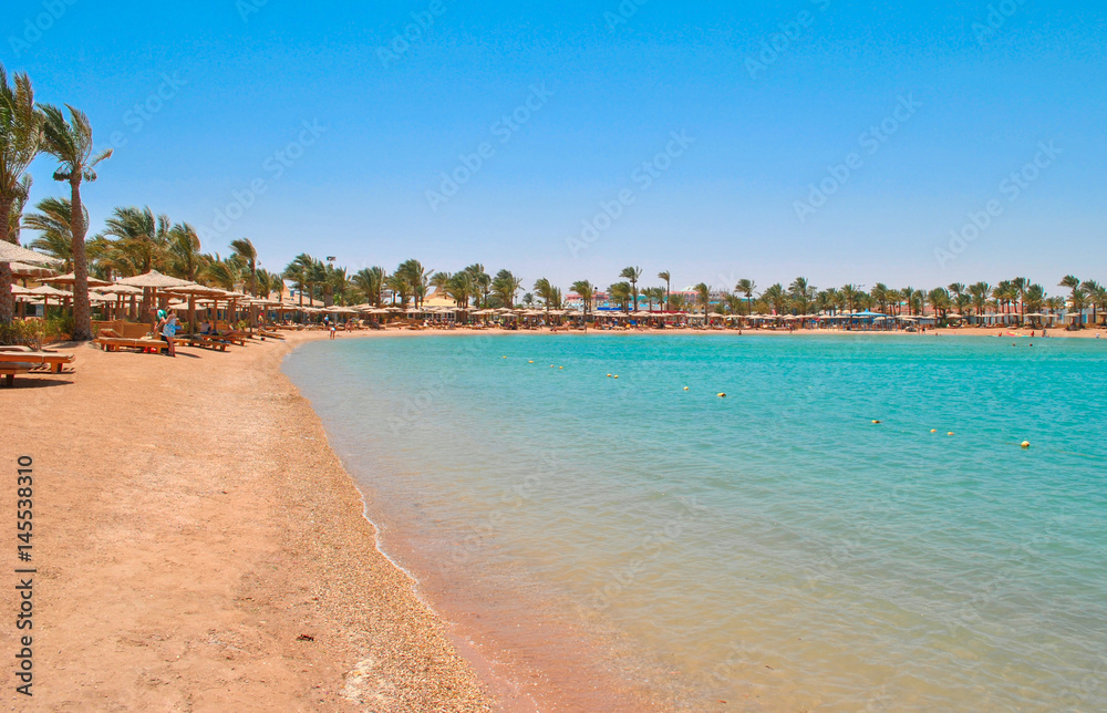 Fototapeta Golden beach in Hurghada, Egypt