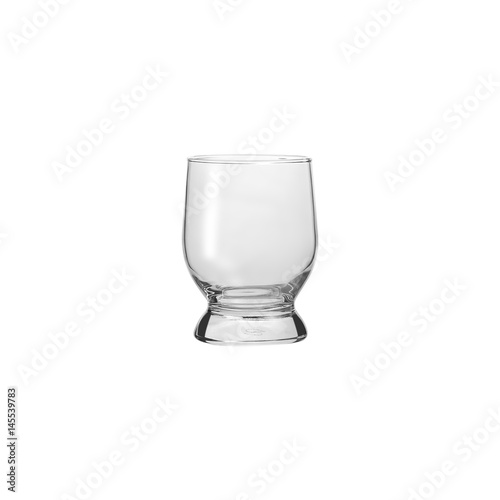 Fotografia, Obraz  Glass transparent empty glass for drinks, isolated on white background