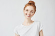 canvas print picture - Portrait of smiling redhead woman