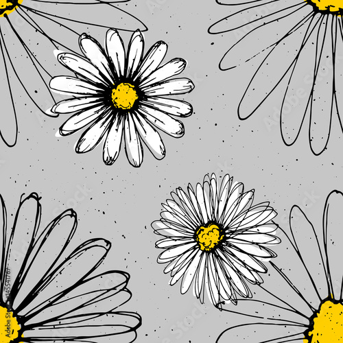 chamomile-hand-drawn-ink-flowers-made-with-pen-modern-fresh-pattern-with-white-flowers-on-background
