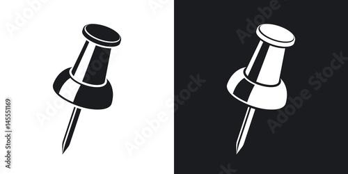 Fotografia, Obraz  Vector pushpin icon