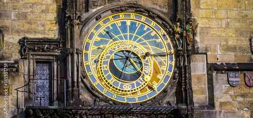 Foto op Aluminium Praag The Prague Astronomical Clock closeup
