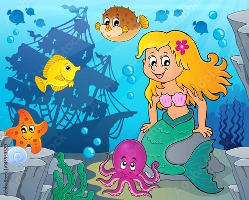 Aluminium Prints Submarine Mermaid topic image 7