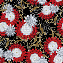 Floral Seamless Pattern. Brigh...