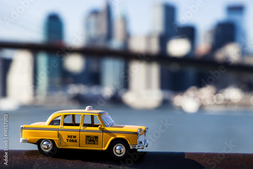 Deurstickers New York TAXI Yellow Taxi & New-York