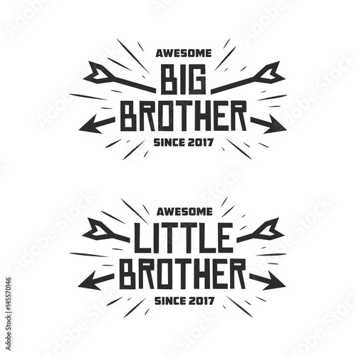 Fotografía  Big brother little brother typography print