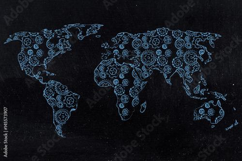 mapa-swiata-z-kontynentami-wykonanymi-z-kol-zebatych