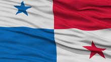 Closeup Panama Flag, Waving In The Wind, High Resolution