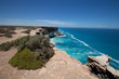 The Great Australian Bight on the Edge of the Nullarbor Plain. Whales are frequently seen frolicking below the cliffs