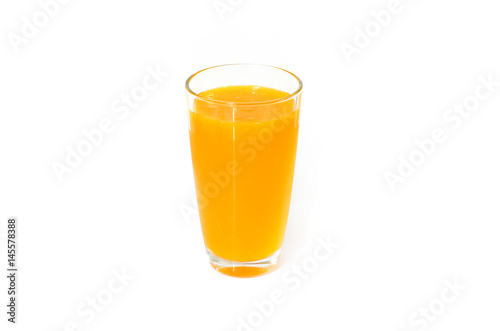 Photo sur Aluminium Jus, Sirop Orange juice on white background