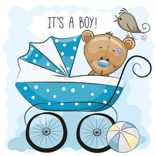 Greeting Card Its A Boy With B...