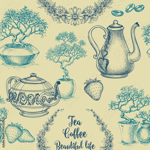 wzor-herbaty-i-kawy-druk-z-obrusu-projekt-naczynia-kuchennego