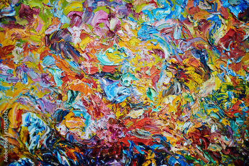Fotografía Creative background made up of multi-color gouache or acrylic paints blobs