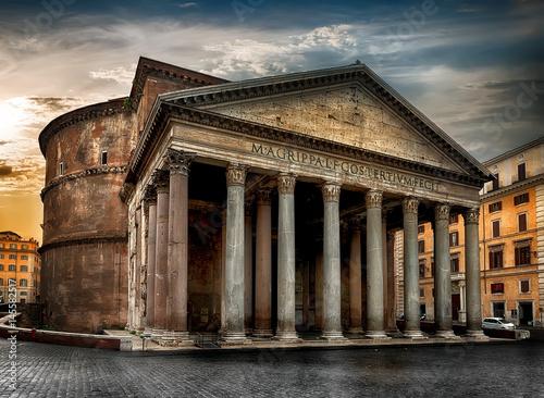 Poster de jardin Monument Ancient roman Pantheon