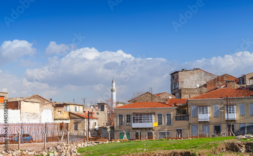 Fotobehang Midden Oosten Street view of old Izmir, Turkey. Living houses