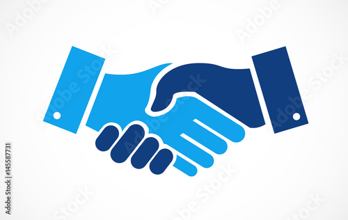 Obraz na plátne agreement handshake concept illustration