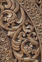 Thai Art Of Carved Wooden