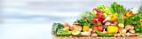 Fototapeta Fototapety do kuchni - Vegetables and fruits.