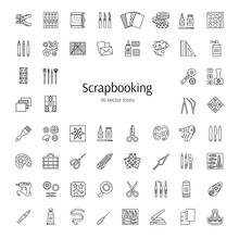 Scrapbooking Vector Line Icons...