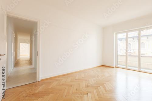 Fototapeta Empty room and long corridor obraz na płótnie