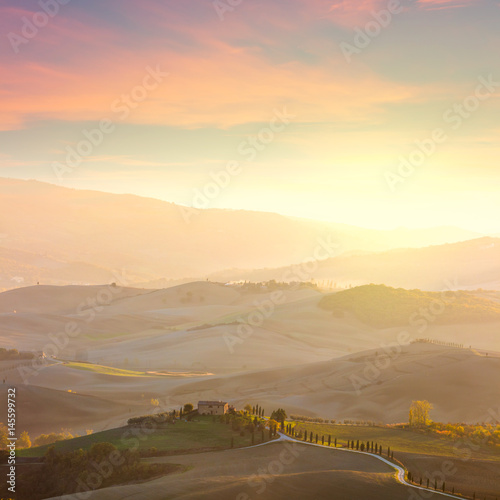 Wall Murals Beige Sunny Tuscany landscape