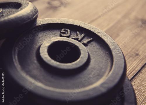Poster Fitness Disk for dumbbells