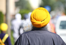 Sikh Man With Turban And Long ...