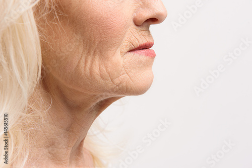 Skin of mature female person Fototapet