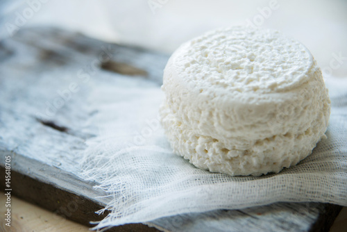 fresh cheese from goat's milk