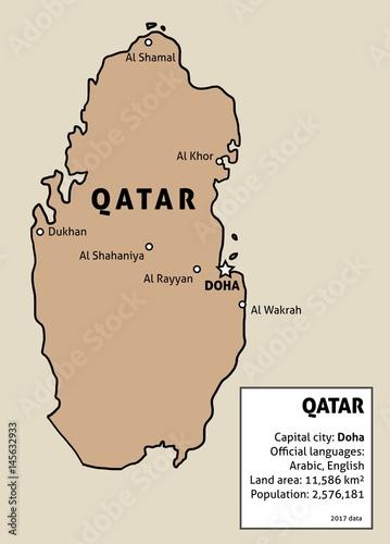 Qatar map vector - Buy this stock vector and explore similar vectors ...