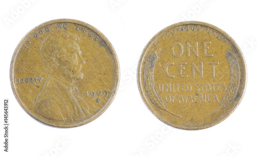 Lincoln Wheat Penny - Buy this stock photo and explore similar