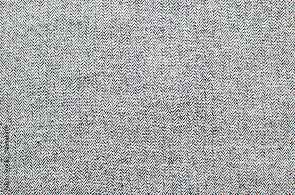 Fototapety, obrazy: Light grey woolen or tweed fabric for grunge background