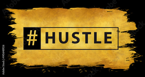 Hashtag hustle in gold - 145648926