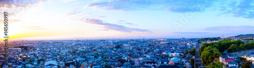 Aluminium Prints Blue 都市風景 日本 住宅街