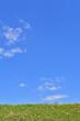 初夏の土手と青空