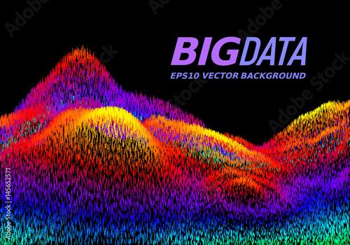 Fotografie, Obraz  Big Data concept. Abstract vector background