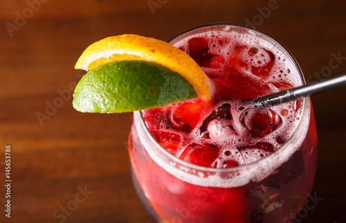 Valokuva Sangria with Lemon And Lime Slice