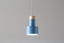 Hanging Luminous Blue Lamp