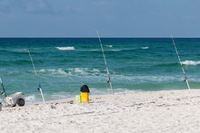 Fishing Poles At The Beach In ...