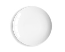 Top View Of Blank White Dish O...