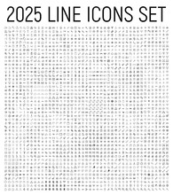 Exclusive 2025 Thin Line Icons...