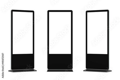 Blank Trade Show LCD Screen Stand as Template for Your Design Canvas Print