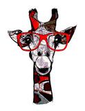Żyrafa z okularami przeciwsłonecznymi - 145673910