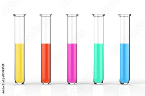 test tubes with colourful liquid Canvas Print