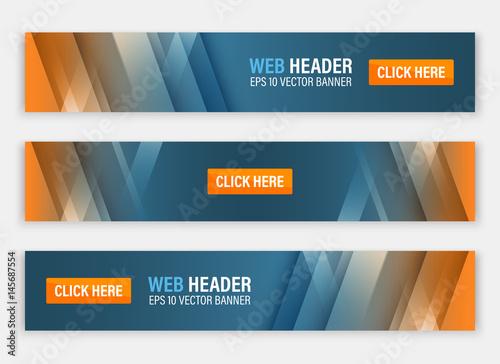 Fototapeta Abstract website header. Horizontal vector banners. obraz