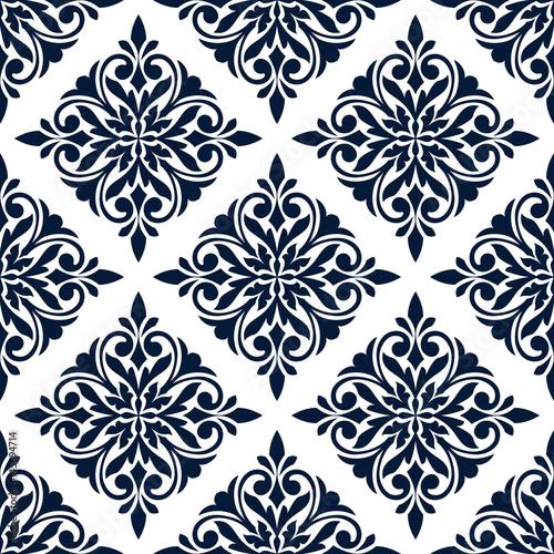 kwiatowy-wzor-niebieski-ornament-adamaszku-na-bialym-tle-z-kompozycji-kwiatow-i-lisci-w-ksztalcie-diamentu-projektowanie-tapet-plytek-i-akcesoriow-do-wnetrz