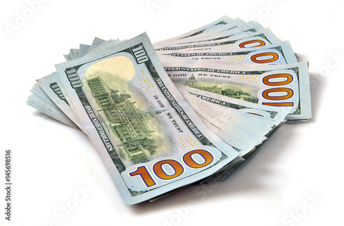 Stack of hundred dollar bills - Buy this stock photo and explore ...
