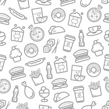 Fast Food Seamless Pattern Of ...