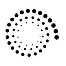 Dotted Spiral Icon Symbol Design. Vector Illustration Isolated On White Background